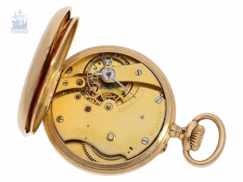 Pocket watch: extremely rare Patek Philippe Pocket chronometer with unusual factory building, No. 70279, CA. 1883 - photo 4