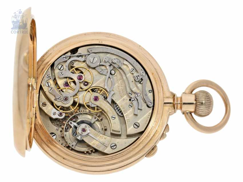 Pocket watch: very serious, very rare Patek Philippe split-seconds chronograph 1893, Anchor chronometer, delivered to Tiffany & co. New York - photo 2
