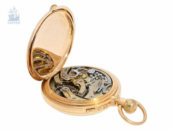 Pocket watch: very serious, very rare Patek Philippe split-seconds chronograph 1893, Anchor chronometer, delivered to Tiffany & co. New York - photo 3