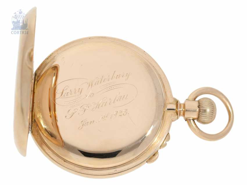 Pocket watch: very serious, very rare Patek Philippe split-seconds chronograph 1893, Anchor chronometer, delivered to Tiffany & co. New York - photo 5