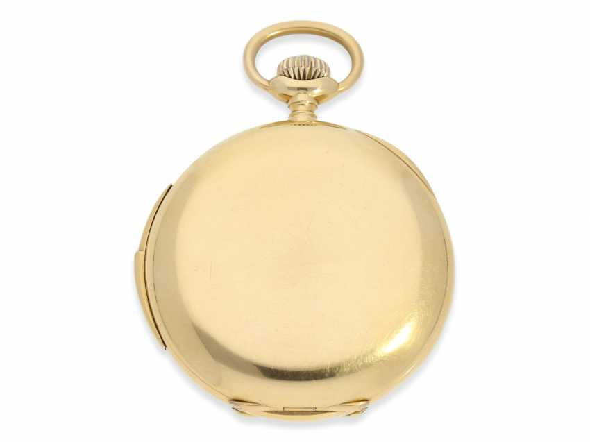 Pocket watch: extremely rare IWC gold savonnette minute repeater, CA. 1910 - photo 2