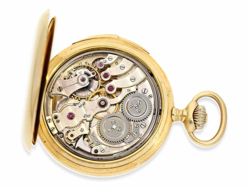 Pocket watch: extremely rare IWC gold savonnette minute repeater, CA. 1910 - photo 4