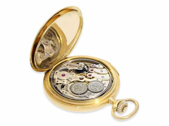 Pocket watch: extremely rare IWC gold savonnette minute repeater, CA. 1910 - photo 5