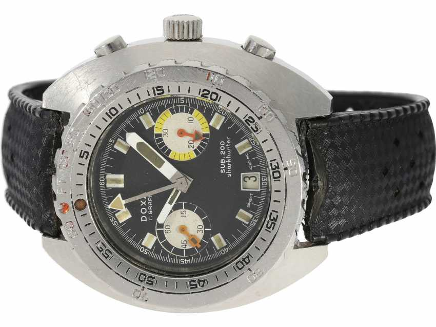 Watch: extremely rare divers watch, Doxa T-Graph Sub.200 Shark Hunter, Ref. 28799-4, divers watch legend of the 70s - photo 1