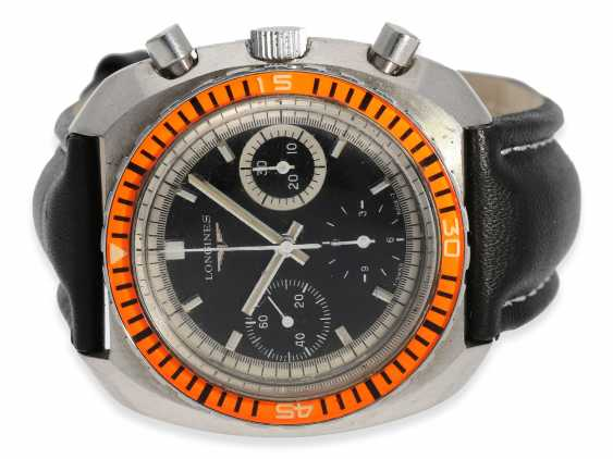 "Watch: big and rare Longines divers Chronograph, Ref. 8229-2 ""Diver"", CA. 1970 - photo 1"