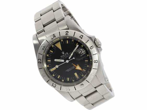"Watch: sought-after vintage Rolex mens watch, Rolex 1655 Explorer II, 1972, 1. Series, the so-called ""Orange Hand Steve McQueen"", with original box - photo 9"