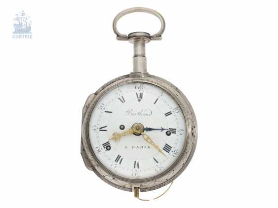 Pocket watch: important, highly complicated Kutschenuhr with Grande Sonnerie, Petit Sonnerie, repeater and alarm clock, Berthoud a Paris, 1800 - photo 1