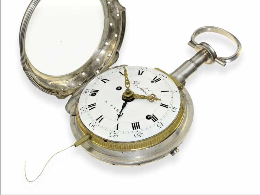 Pocket watch: important, highly complicated Kutschenuhr with Grande Sonnerie, Petit Sonnerie, repeater and alarm clock, Berthoud a Paris, 1800 - photo 4