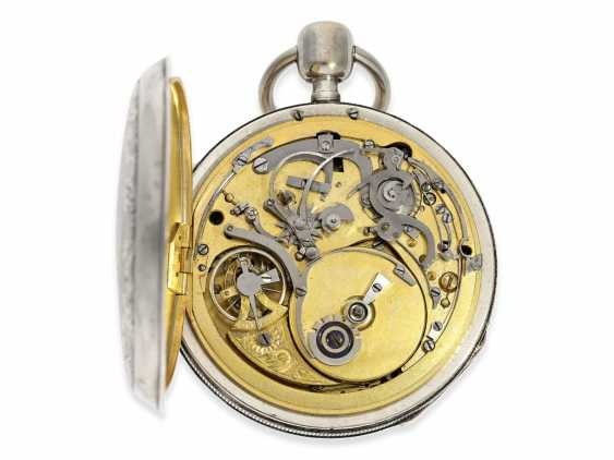 Pocket watch: very fine, large pocket watch with percussion and music, very nice quality, Le Clerc, Paris, No. 3030 (1817-1824) - photo 3