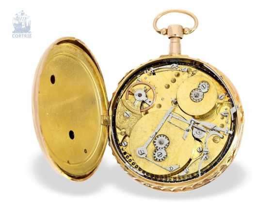 Pocket watch: big and heavy, red-gold pocket watch with Repetition and hourly release, especially rare music work, Henry Darlot, to 1820 - photo 3