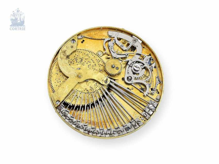 Pocket watch: big and heavy, red-gold pocket watch with Repetition and hourly release, especially rare music work, Henry Darlot, to 1820 - photo 5