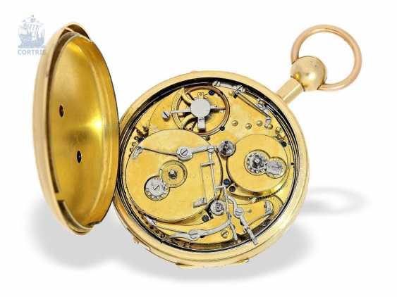 Pocket watch: unique and extremely rare Geneva pocket watch with Repetition and Music movement, Switzerland around 1820 - photo 2