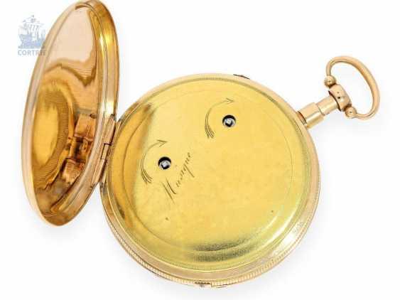 Pocket watch: fine Gold/enamel pocket watch with Repetition and Music movement, Piguet & Meylan, Geneva, circa 1820 - photo 2