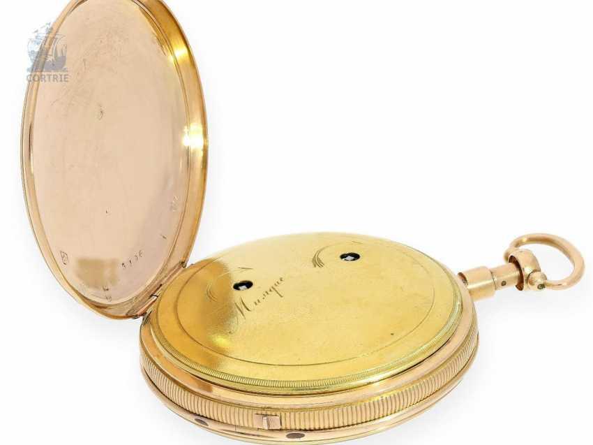 Pocket watch: fine Gold/enamel pocket watch with Repetition and Music movement, Piguet & Meylan, Geneva, circa 1820 - photo 3