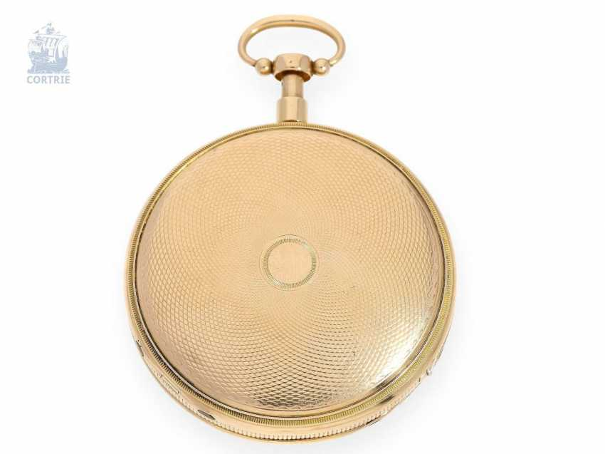 Pocket watch: fine Gold/enamel pocket watch with Repetition and Music movement, Piguet & Meylan, Geneva, circa 1820 - photo 4