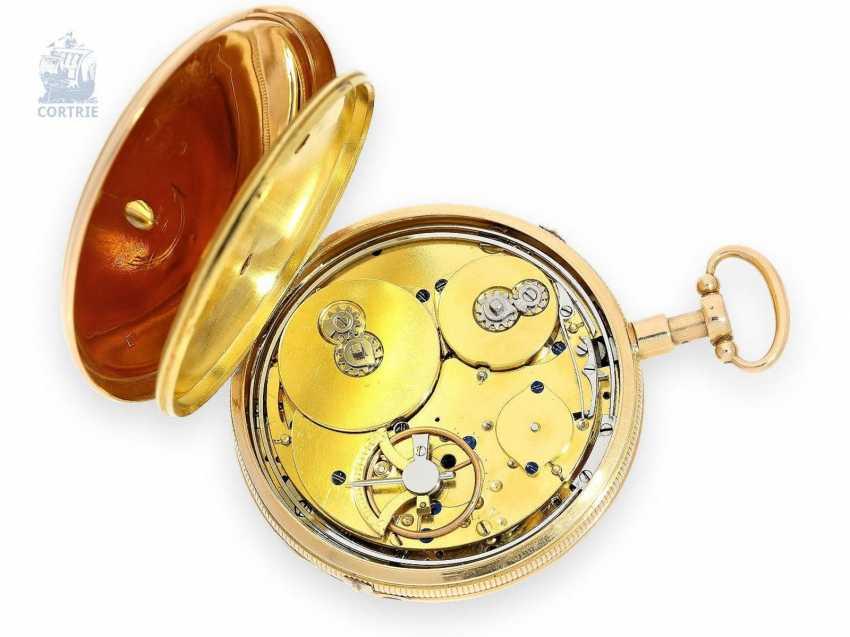 Pocket watch: fine Gold/enamel pocket watch with Repetition and Music movement, Piguet & Meylan, Geneva, circa 1820 - photo 5
