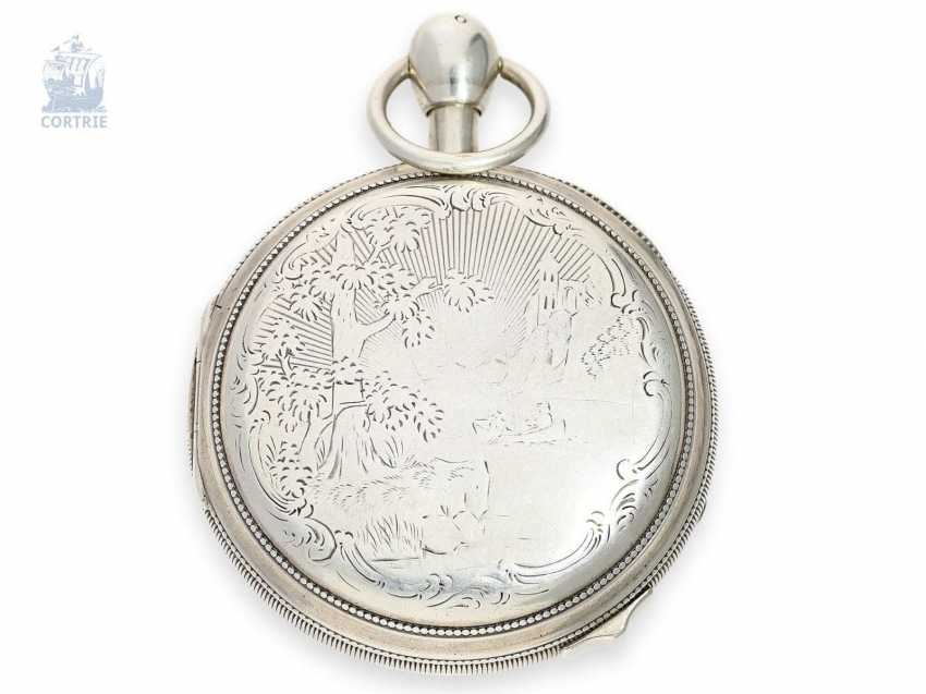 Pocket watch: extremely rare, skeletonized hammer mechanism pocket watch with Jacquemarts and additional hidden erotic automaton, Les Frères Esquivillon & De Choudens, Geneva No. 1086, 1810 - photo 7
