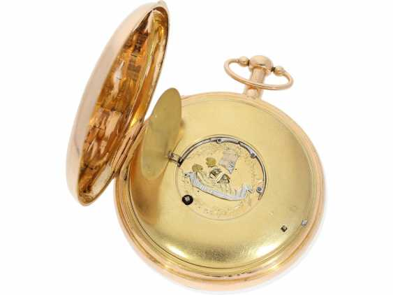 Pocket watch: important, skeletonized percussion pocket watch with Carillon-percussion and 4 machines, including hidden erotic automaton, Switzerland around 1820 - photo 8