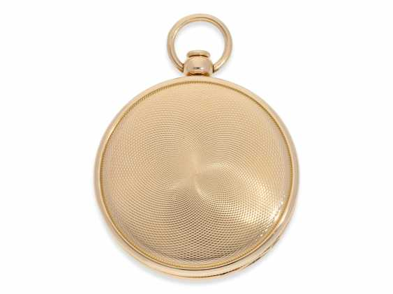 Pocket watch: exquisite, highly complicated pocket watch with quarter-hour repeater and jumping hours, according to Breguet, signed Breguet & Fils, No. 1976, almost mint condition, approx. 1810 - photo 2
