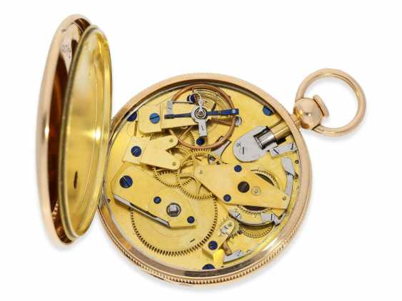 Pocket watch: exquisite, highly complicated pocket watch with quarter-hour repeater and jumping hours, according to Breguet, signed Breguet & Fils, No. 1976, almost mint condition, approx. 1810 - photo 3