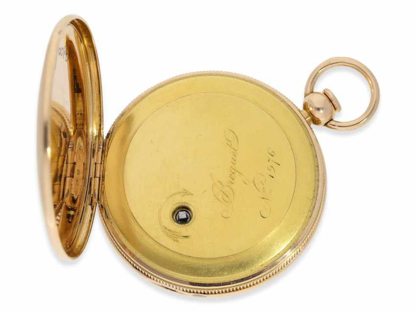 Pocket watch: exquisite, highly complicated pocket watch with quarter-hour repeater and jumping hours, according to Breguet, signed Breguet & Fils, No. 1976, almost mint condition, approx. 1810 - photo 4