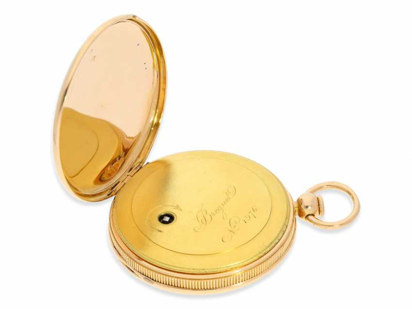 Pocket watch: exquisite, highly complicated pocket watch with quarter-hour repeater and jumping hours, according to Breguet, signed Breguet & Fils, No. 1976, almost mint condition, approx. 1810 - photo 5