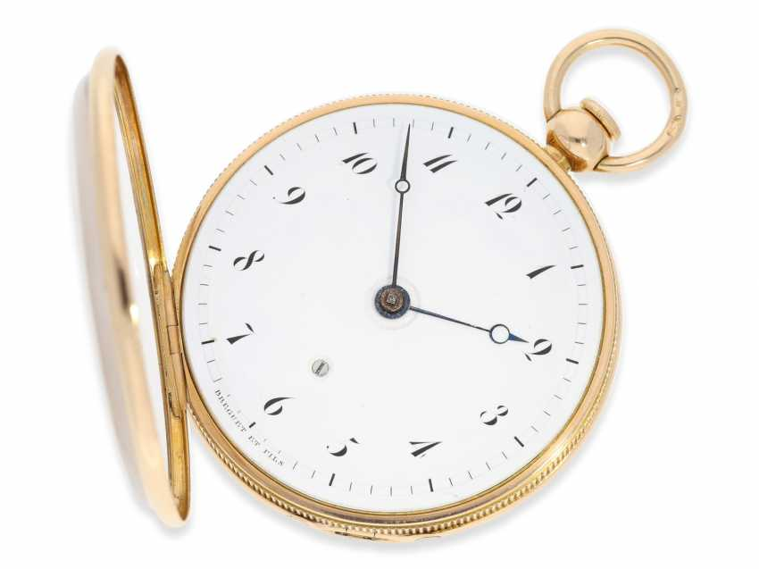 Pocket watch: exquisite, highly complicated pocket watch with quarter-hour repeater and jumping hours, according to Breguet, signed Breguet & Fils, No. 1976, almost mint condition, approx. 1810 - photo 6