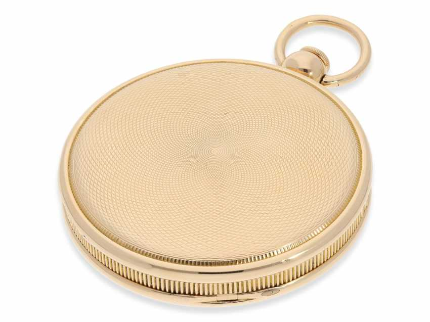 Pocket watch: exquisite, highly complicated pocket watch with quarter-hour repeater and jumping hours, according to Breguet, signed Breguet & Fils, No. 1976, almost mint condition, approx. 1810 - photo 7