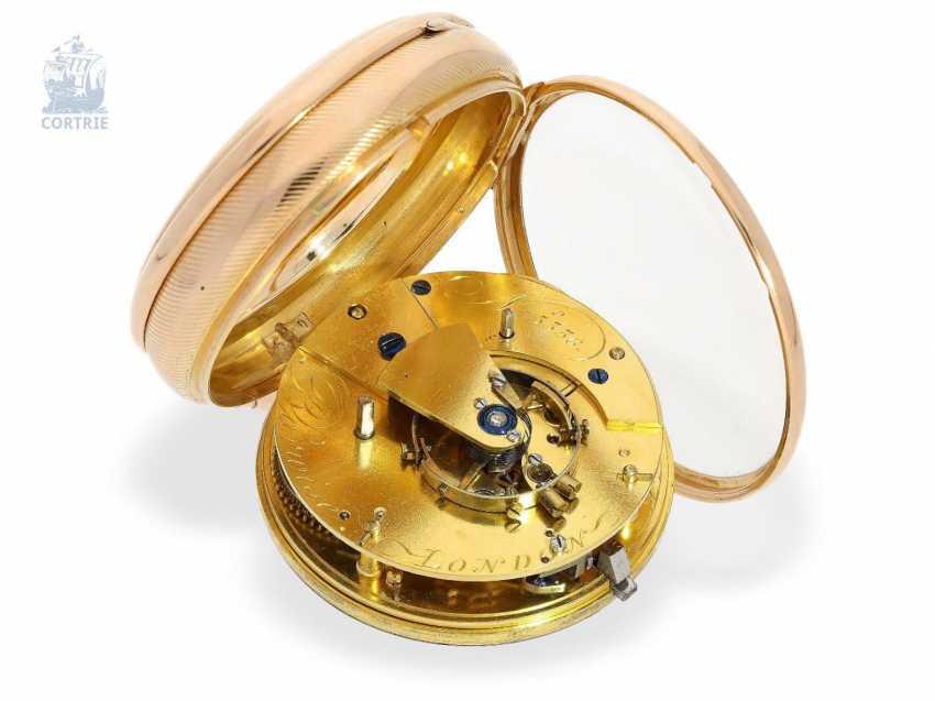 Pocket watch: very fine English Pocket chronometer with chronometer balance wheel according to Pennington, m London No. 5336, London 1812 - photo 1
