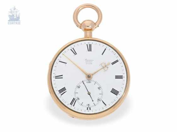 Pocket watch: very fine English Pocket chronometer with chronometer balance wheel according to Pennington, m London No. 5336, London 1812 - photo 6