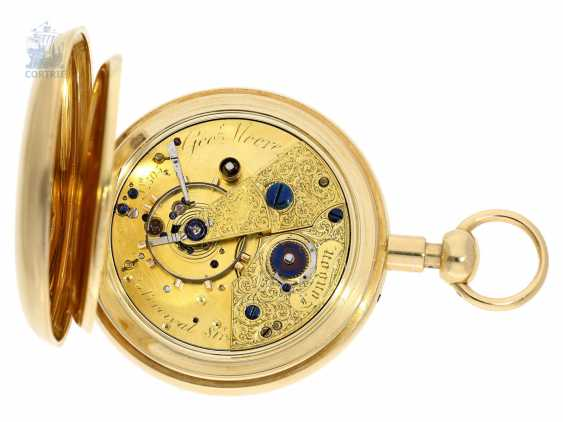 Pocket watch: rare, high-fine English Pocket chronometer with 1/8-repeater, George Moore, London, No. 505, Hallmarks London 1840 - photo 2