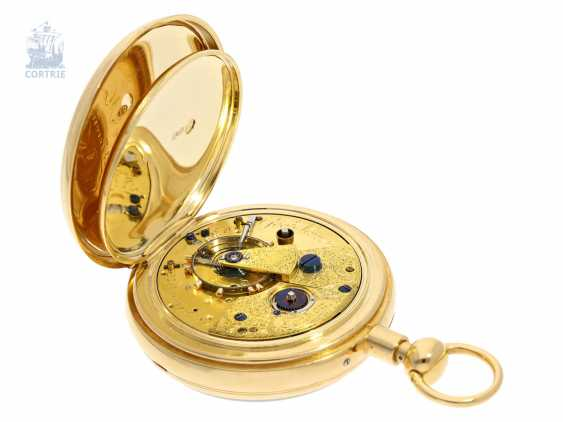 Pocket watch: rare, high-fine English Pocket chronometer with 1/8-repeater, George Moore, London, No. 505, Hallmarks London 1840 - photo 3