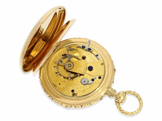 Pocket watch English Pocket chronometer, which is a special quality, half-savonnette Observation chronometer with anhaltbarer second and Repetition, Parkinson & Frodsham, Change Alley, London, No. 1963, approx. 1830 - photo 6