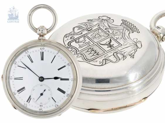 Pocket watch: particularly heavy and technically highly interesting English Pocket chronometers, former noble possession, Robert Pennington, London, movement No. 4-433, Go. No. 4784, CA. 1830 - photo 1