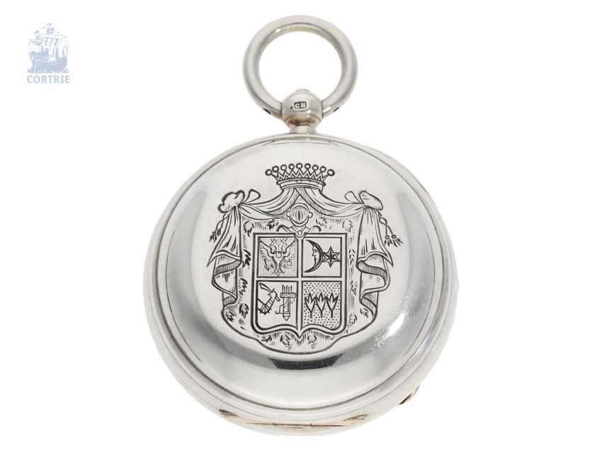 Pocket watch: particularly heavy and technically highly interesting English Pocket chronometers, former noble possession, Robert Pennington, London, movement No. 4-433, Go. No. 4784, CA. 1830 - photo 2
