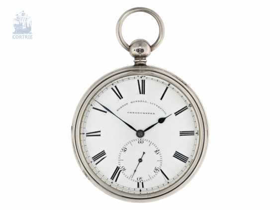 Pocket watch: out of the ordinary, particularly heavy Pocket chronometer by Robert Roskell, Liverpool, No. 6078, the Hallmark 1845 - photo 1