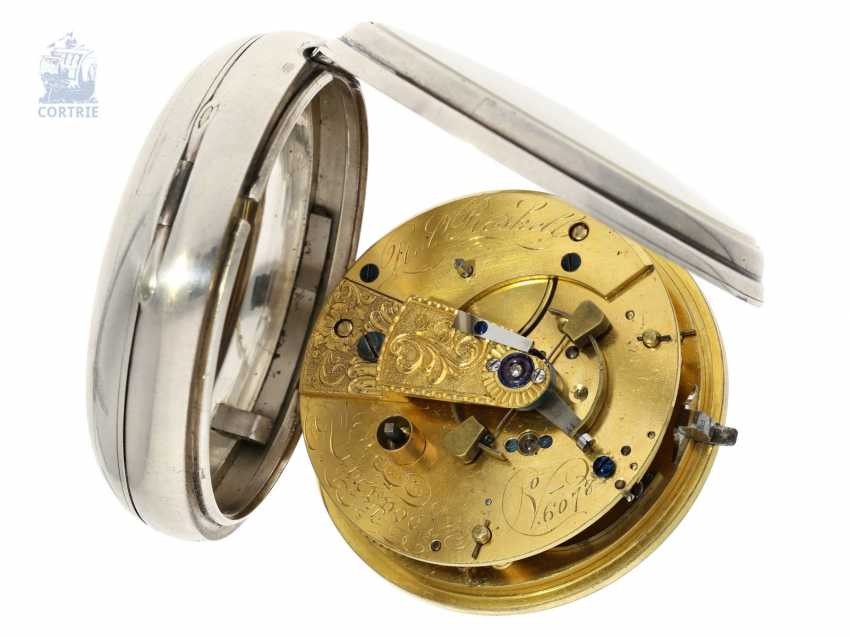 Pocket watch: out of the ordinary, particularly heavy Pocket chronometer by Robert Roskell, Liverpool, No. 6078, the Hallmark 1845 - photo 2
