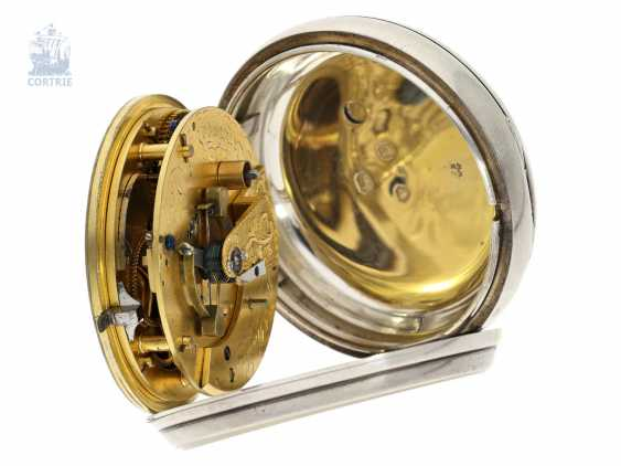 Pocket watch: out of the ordinary, particularly heavy Pocket chronometer by Robert Roskell, Liverpool, No. 6078, the Hallmark 1845 - photo 4