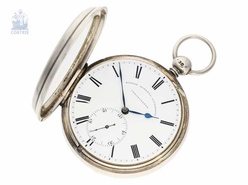 Pocket watch: out of the ordinary, particularly heavy Pocket chronometer by Robert Roskell, Liverpool, No. 6078, the Hallmark 1845 - photo 5