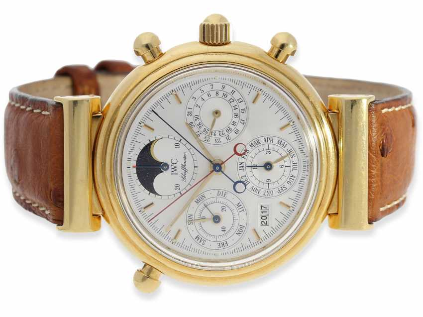 "Watch: very high quality, astronomical IWC Da Vinci ""Chronograph Rattrapante"" with perpetual calendar and moon-phase, Ref. 3751, No. 477, CA. 1990 - photo 1"
