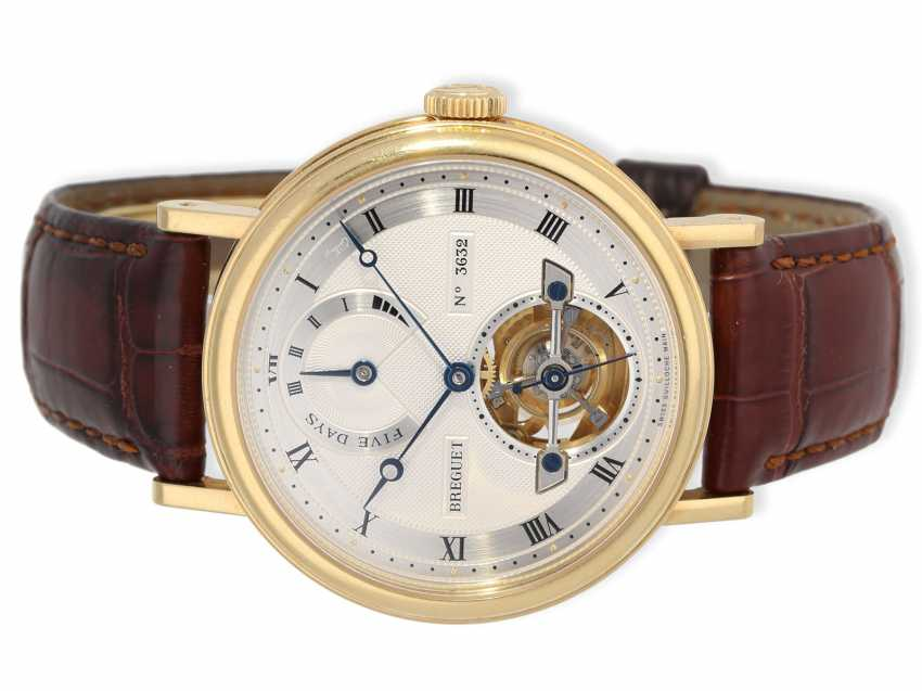 "Watch: very high quality, almost mint-preserved Breguet Tourbillon, reference 5317BA, ""Automatic Power Reserve"", Full Set, original papers and original box from 2012 - photo 3"