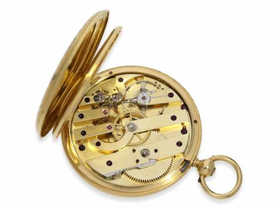 Pocket watch: fine Gold/enamel-Savonnette of outstanding quality, Huegenin & Cie. No. 31147, made for the Ottoman market around 1840 - photo 4