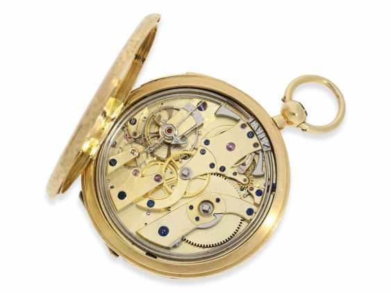 Pocket watch: a unique, early gold savonnette with Repetition, rarity from the early days of Patek Philippe, Patek & Cie. No. 10296, Geneva, CA. 1855, probably with original Box and original key - photo 5