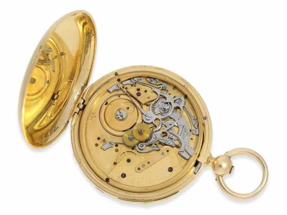 Pocket watch: rare and interesting early gold savonnette with Repetition, Urban Jürgensen & Sons, Copenhagen No. 9731, CA. 1870 - photo 2
