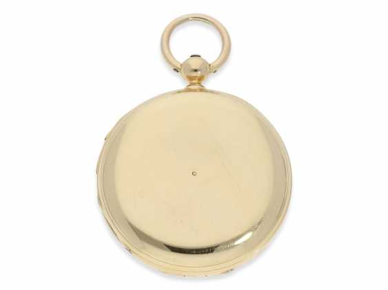 Pocket watch: rare and interesting early gold savonnette with Repetition, Urban Jürgensen & Sons, Copenhagen No. 9731, CA. 1870 - photo 7