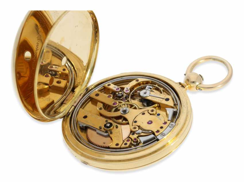 Pocket watch: rare and interesting early gold savonnette with Repetition, Urban Jürgensen & Sons, Copenhagen No. 9731, CA. 1870 - photo 8