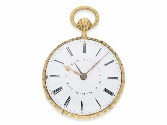 Pocket watch: extremely rare Lepine, the earliest known pocket watch by Vacheron & Constantin with Repetition and date, No. 33761, CA. 1830 - photo 1