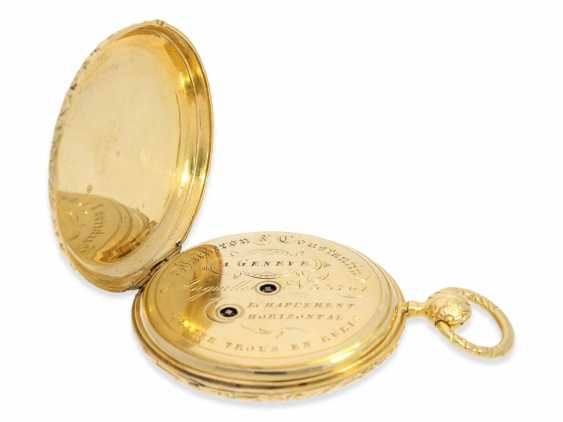 Pocket watch: extremely rare Lepine, the earliest known pocket watch by Vacheron & Constantin with Repetition and date, No. 33761, CA. 1830 - photo 3