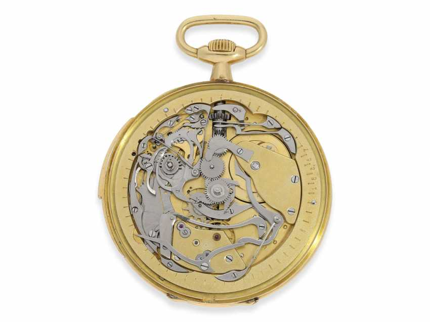 Pocket watch: an exquisite pocket watch with minute repeater, Audemars Piguet for Leroy & Cie Paris No. 15357, with original box, approx. in 1923, - photo 4