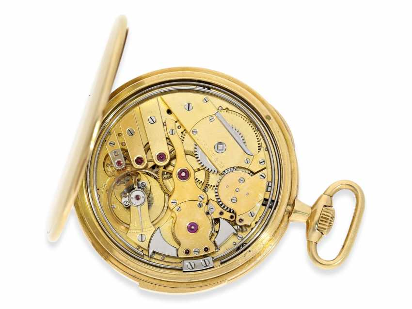 Pocket watch: an exquisite pocket watch with minute repeater, Audemars Piguet for Leroy & Cie Paris No. 15357, with original box, approx. in 1923, - photo 5